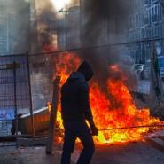 Gewalt oder ziviler Ungehorsam? Demonstranten vor der EZB in Frankfurt am vergangenen Mittwoch.