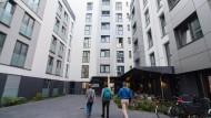 Aufbau: Das Wohnheim der Stiftung Azubiwerk in Hamburg halten Gewerkschafter für ein Vorbild für Frankfurt.