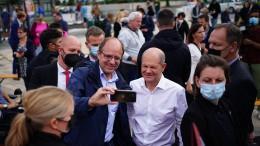 Scholz wirbt bei letzter Wahl-Veranstaltung um Stimmen