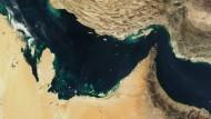 Wieder Aufruhr im Persischen Golf: Eine Satellitenaufnahme der Straße von Hormus