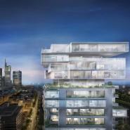 Spektakuläre Verwandlung: Der Union-Investment-Turm in Frankfurt wird vom Architekten Ole Scheeren in das Wohnhochhaus Riverpark Tower umgebaut.