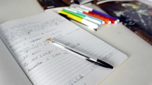 Hilferuf im Hausaufgabenheft