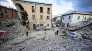 Ein Bild der Zerstörung im italienischen Ort Amatrice