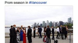 Justin Trudeau joggte entlang des Uferdamms im Stanley Park in Vancouver – und überrascht dabei eine Schülergruppe.