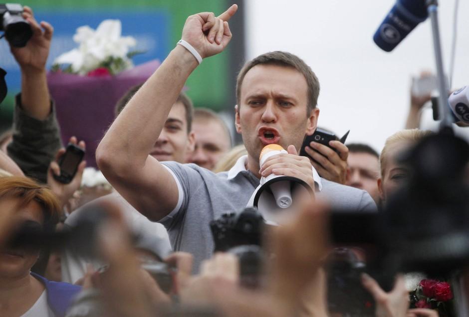 Für seine Regierungskritik musste Nawalnyj bereits ins Gefängnis. Im Juli 2013 wurde er überraschend entlassen.