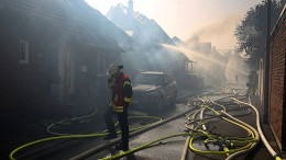Verletzte bei Großbrand in Siegburg