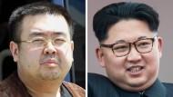 Nordkoreas Diktator Kim Jong-un (rechts) und sein Halbbruder Kim Jong-nam