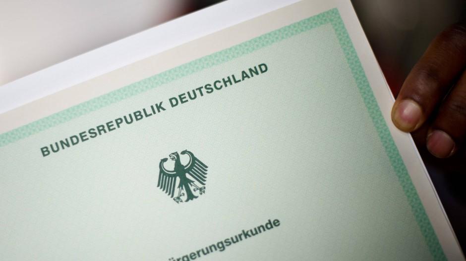Die deutsche Einbürgerungsurkunde