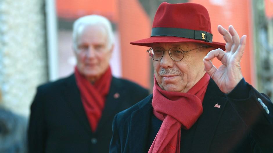 Ausnahmsweise auch mal mit rotem Hut: Dieter Kosslick im Jahr 2019 bei seiner letzten Berlinale als Direktor