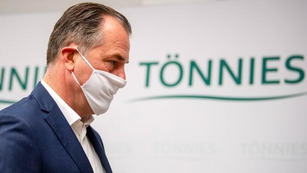 Clemens Tönnies in Arbeitsquarantäne
