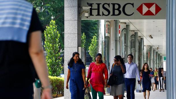 HSBC meldet schwache Zahlen