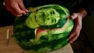 Melonen-Kunst zur Fußball-WM