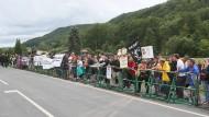 Wenig Widerstand: Bei der Gegendemonstration am Nachmittag wurden 75 Personen gezählt.