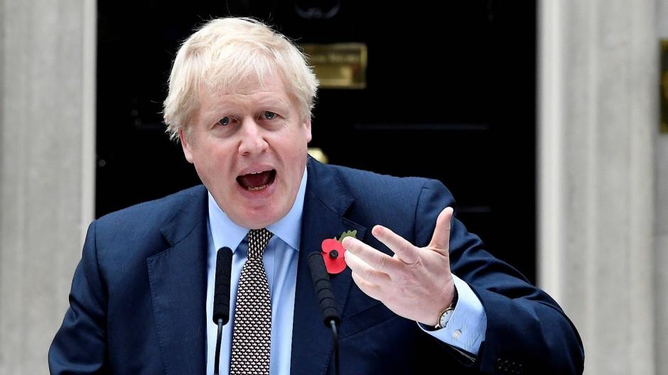Der britische Premierminister am Mittwoch in London