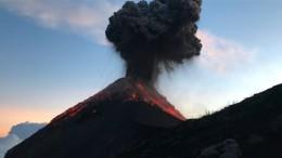 Wanderer veröffentlicht Video von Feuervulkan