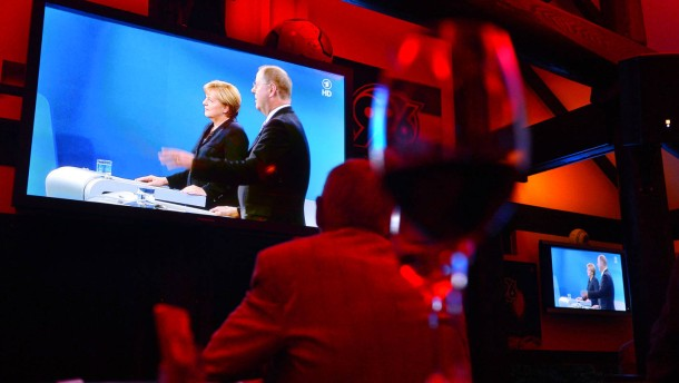 Public-Viewing Fernsehduell Steinbrück Merkel