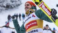 Plötzlich in der ersten Reihe: Skispringer Richard Freitag