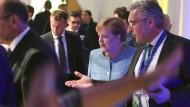 Bundeskanzlerin Angela Merkel bei einem Abendessen der EU-Staats- und Regierungschefs in der bulgarischen Hauptstadt Sofia