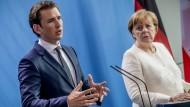 Merkel und Kurz wollen EU-Außengrenzen sichern