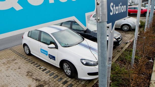 Carsharing-Umsätze versiebenfachen sich bis 2021