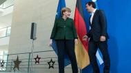 Bundeskanzlerin Angela Merkel und der griechische Ministerpräsident Alexis Tsipras bei ihrem Treffen im Bundeskanzleramt