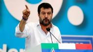 Lega-Chef Matteo Salvini Ende Oktober in Rom