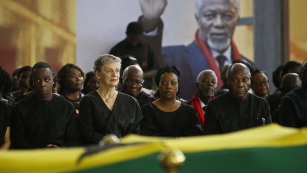 Staatsbegräbnis für Kofi Annan in Ghana