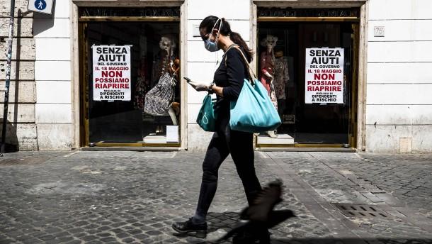 Italien in Not: Rom verteilt 55 Milliarden Euro
