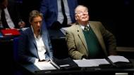 Let the sunshine in: Alice Weidel und Alexander Gauland am Donnerstag im Plenum des Bundestages