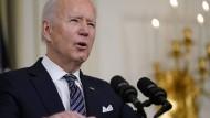 Der amerikanische Präsident Joe Biden im März
