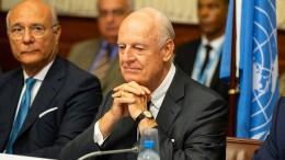 UN-Syriengesandter de Mistura kündigt Rücktritt an