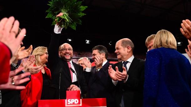Schulz mit Rekordergebnis zum SPD-Parteichef gewählt