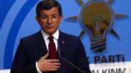 Ministerpräsident Davutoglu kündigt Rückzug an