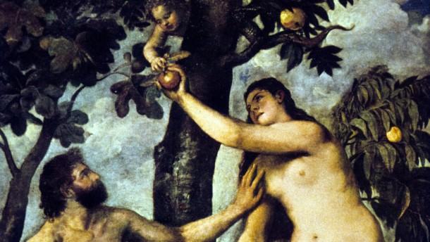 AT Paradies Sündenfall - Gemälde Adam und Eva von Tizian - 1665-1670