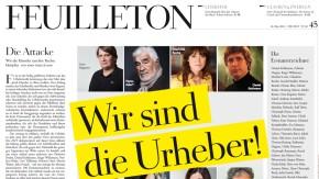 Zeitungsseite / Feuilleton Zeit / Wir sind die Urheber
