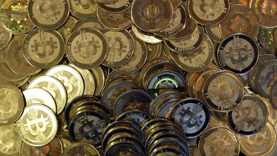 Münzen der Krypto-Währung Bitcoin