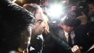 Charles Ghosn am Mittwoch in Tokio: Wenig später wird er abermals verhaftet.
