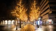 Gähnende Leere: die Stuttgarter Königsstraße in der Silvesternacht