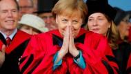 Bundeskanzlerin Angela Merkel in Harvard
