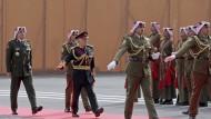 Harter Kurs gegenüber Israel: Jordaniens König Abdullah II. am Sonntag in Amman