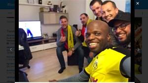 Die Fans von Dortmund und Monaco halten zusammen