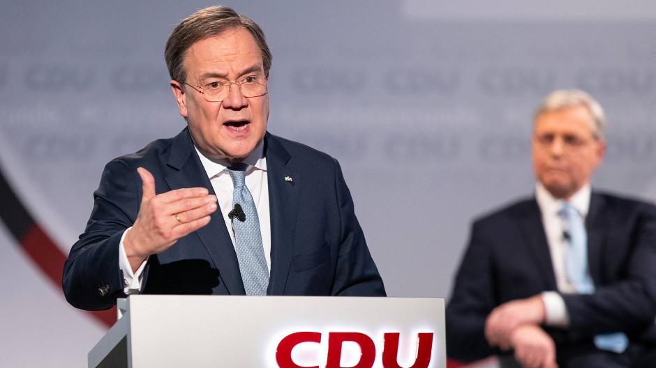 Armin Laschet bei einer Debatte um den CDU-Vorsitz