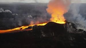 Wenn die Lava gefriert, wird es übel