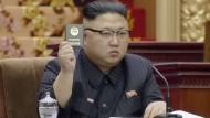 Kim Jong Un beim nordkoreanischen Volkskongress in Pjöngjang