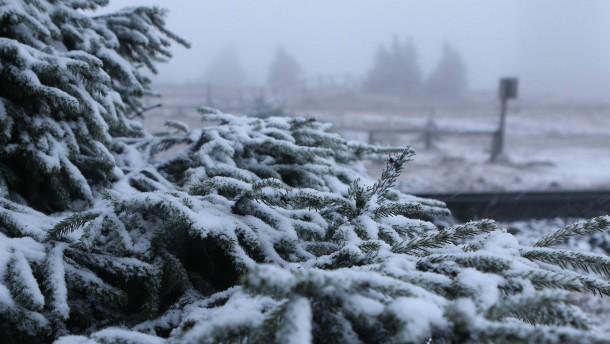 Erste Schneefälle in Deutschland