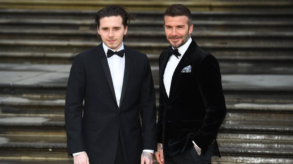 Steht jetzt auf eigenen Füßen: Brooklyn Beckham mit Papa David