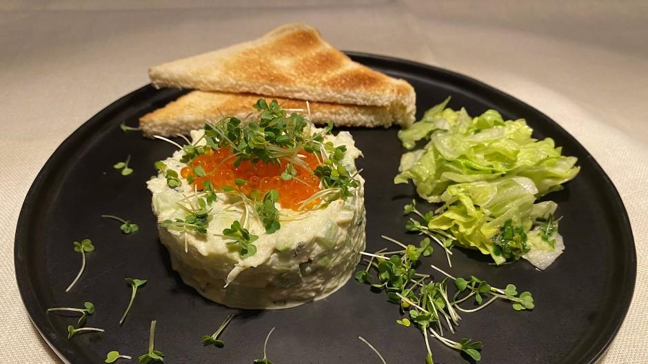 """""""Crab Mayonnaise"""" ist eine auf den britischen Inseln beliebte, delikate Vorspeise."""