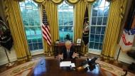 Gekommen, um zu bleiben: Donald Trump im Oval Office