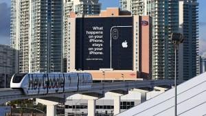 Seitenhieb von Apple im Großformat