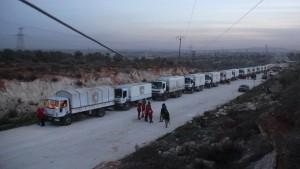 Erste Hilfskonvois erreichen belagerte Städte